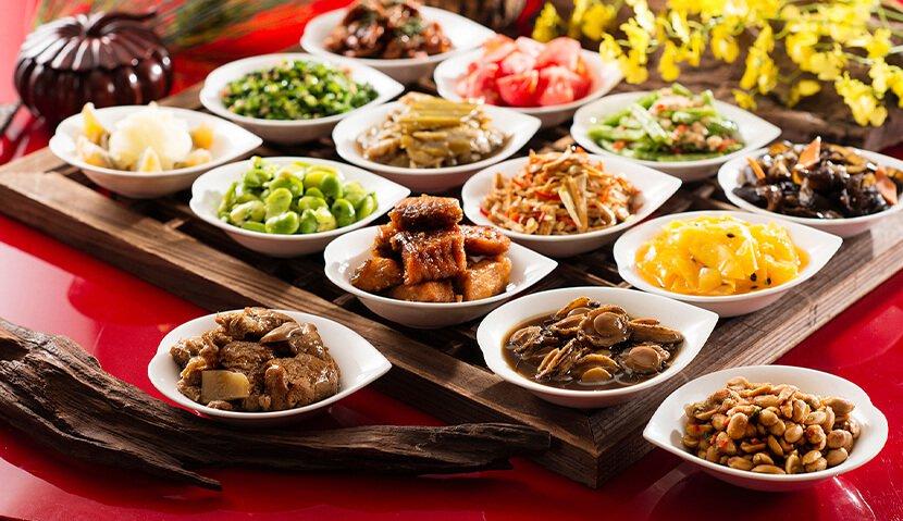 經典中華美食.高樓城市美景