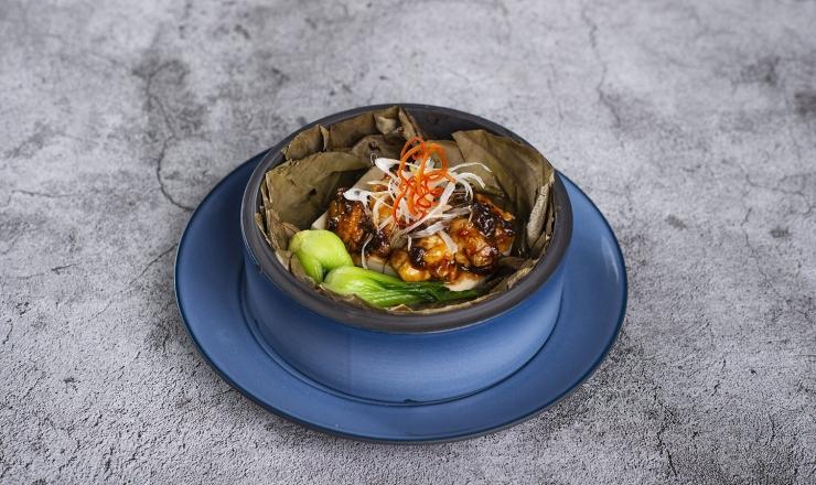 豉汁龍蝦蒸豆腐